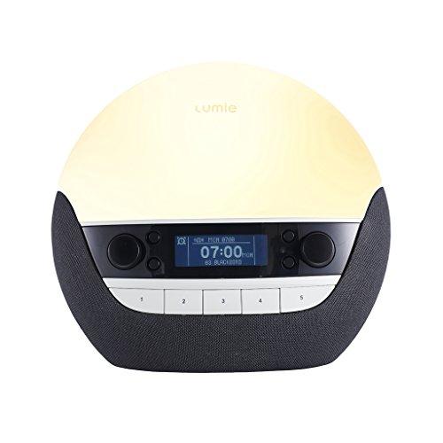 Lumie Bodyclock Luxe 750D - Lichtwecker DAB-Radio, Bluetooth-Audiofunktion und Nachttischlampe mit geringem Blaulichtanteil -