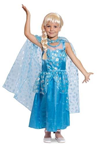 Folat 63217 Eisprinzessin Kleid-Kind, Größe 116-134, blau (Für Sonic Kostüm Kinder)