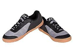 Nivia Gloster Walking Shoes (8, Black)