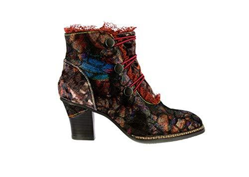 (Laura Vita SL2015-24 Amelia 24 Schuhe Damen Stiefeletten Ankle Boots, Schuhgröße:39, Farbe:Rot)