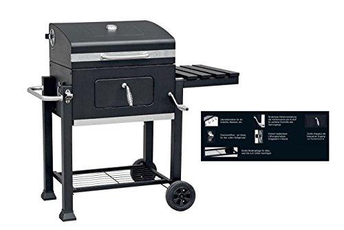 Luxus Grillwagen BBQ Barbecue Grill Gartengrill Holzkohlegrill Smoker Grillrost
