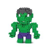 QXMEI Kids Superhero Figure Micro Diamond DIY Educational Toys Avengers Diamond Blocks/Micro Bricks Parent-child Interactive Toy,Hulk