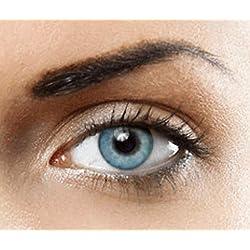 Lentilles de contact de Couleur naturelle (TOPAZ BLEU) Sans correction- 1 paire (2 pièces)- étui à lentilles gratuit - des lentilles de luxe hollywood