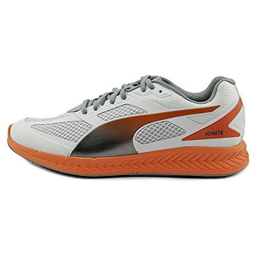 Puma Ignite Mesh Large Synthétique Baskets White-Vermillion Orange