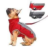 AXspeed Pet Dog Clothes Autumn Winter Warm Padded Coat Vest Waterproof Jacket Apparel