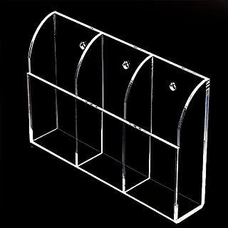 Kicode Klares Acryl Fernbedienungshalter Wandhalterung Media Organizer Aufbewahrungsbox Praktischer Fernbedienungs-Caddy (Drei Fächer)