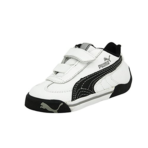 Puma SPEED CAT 2.9 LOW V Schwarz Weiss Leder Kinder Sneakers Schuhe Neu (Speed Cat Weiß Herren)