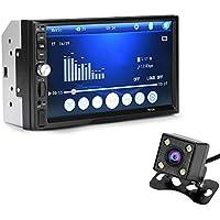 perg Transferencia 7Pulgadas Doble 2DIN Coche mp5Reproductor Bluetooth Stereo Radio HD cámara FM AUX de Entrada