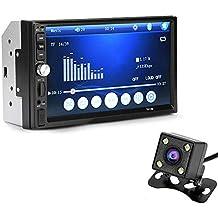 perg Transferencia 7 Pulgadas Doble 2DIN Coche mp5 Reproductor Bluetooth Stereo Radio HD cámara FM AUX