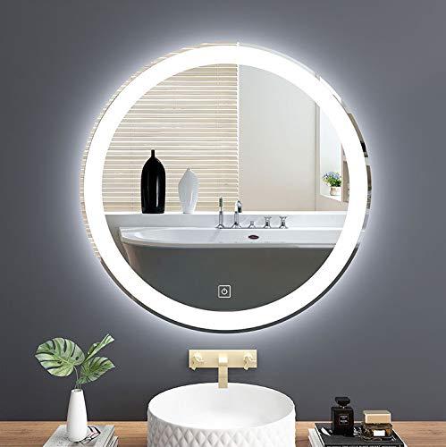 LED Badezimmer Wand Spiegel Beleuchtet Bad Spiegel Weiß Warmes Licht Runde Anti-Fogging Waschraum Toilette Kosmetikspiegel Mit Touch-Schalter