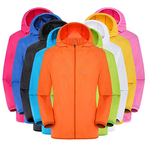 VJGOAL Mantel Damen Jacke Elegant Große Größen Klassisch Einfarbig Beiläufig Lange Ärmel Mit Kapuze Im Freien Radsportanzug Sonnenschutzkleidung Browning-camo Sweatshirt