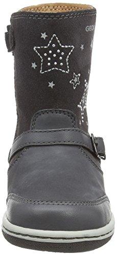 Geox B Flick Girl L, Bottes premiers pas mixte bébé Gris - Grau (C9002DK GREY)