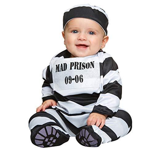 My Other Me Me-203293 Disfraz de preso bebé, 0-6 meses (Viving Costumes 203293