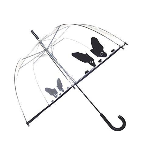 SMATI Paraguas Largo Transparente Forma Campana automático-Estampado