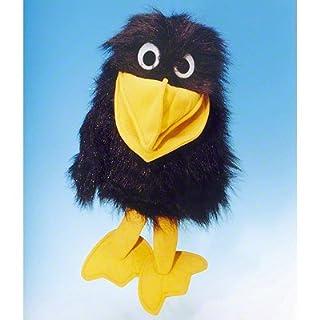 ABRAXAS handspielpuppe corbeau en peluche - 42 cm