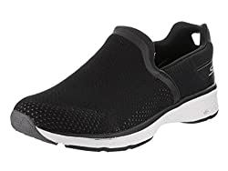 Skechers Performance Mens Go Walk Sport Energy Slip-On Walking Shoe, Black/White, 9 M US