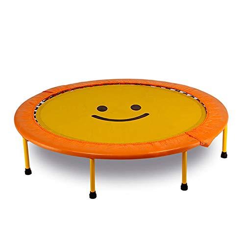 Trampolin Tragbares Zusammenklappbares Fitness-Trampolin Für Kinder Zum Abnehmen (Color : Yellow)