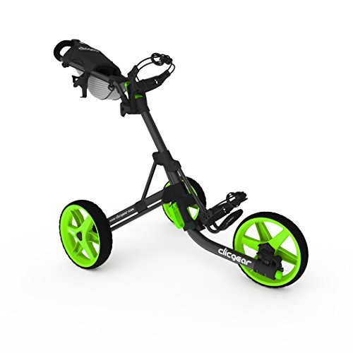 2014 Clicgear Model 3.5+ Trolley Golf Pushcart Charcoal/Lime -
