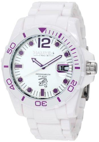 Haurex Italy - W7354UWP - Montre Homme - Quartz Analogique - Bracelet Plastique Blanc
