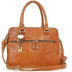 Grand sac à main signé Catwalk Collection - Victoria - Tanne