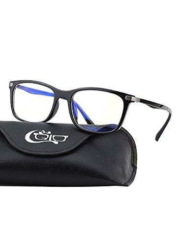 CGID CT46 Lunettes bloquant la lumière bleue monture TR90 premium, Anti éblouissement fatigue bloquant maux de têtes fatigue oculaire, Lunettes de protection pour ordinateur/téléphone/tablettes, cadre flexible incassable,lentille transparente