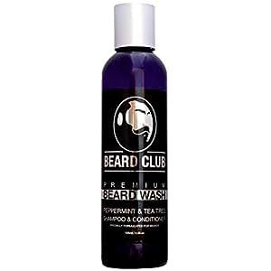 Shampoo e balsamo Premium per barba   125 ml   Beard Club   Lavaggio barba al 100% naturale & biologico