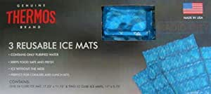 Genuine Thermos Brand 3 Reusable Ice Mats Contains 36 Cube Ice Mats by Genuine