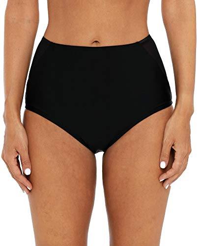 Attraco Damen Badehose Solid Mid/High Waist Beach Bikini Badehose - - X-Large -