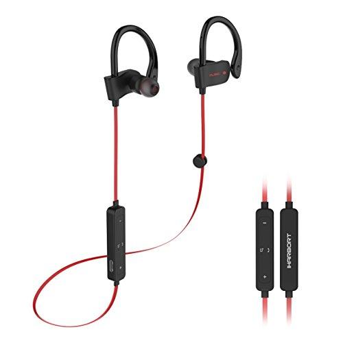 Foto de Iharbort Auriculares Bluetooth Deportivos, Bluetooth 4.1 auriculares inalámbricos de deportes auriculares con micrófono y AptX para todos los teléfonos inteligentes y dispositivo Bluetooth, Rojo