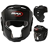 Casque de Boxe Unisexe Senior - MMA Arts Martiaux Kick Fight Entraînement - Sparring Gear de Protection Zero Impact, Noir, Sénior