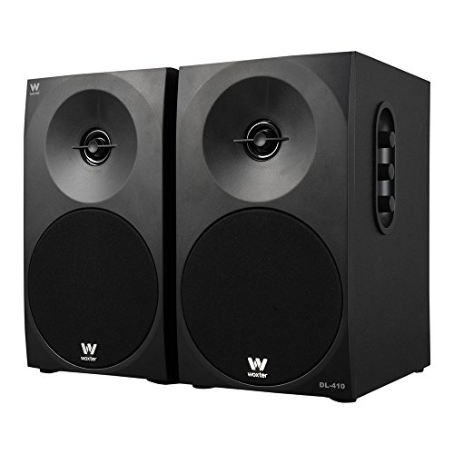 Woxter Dynamic Line DL-410 - Altavoces multimedia 2.0 (Potencia 150W, en madera, conexión 3'5 mm, control de sonido en panel lateral), color negro