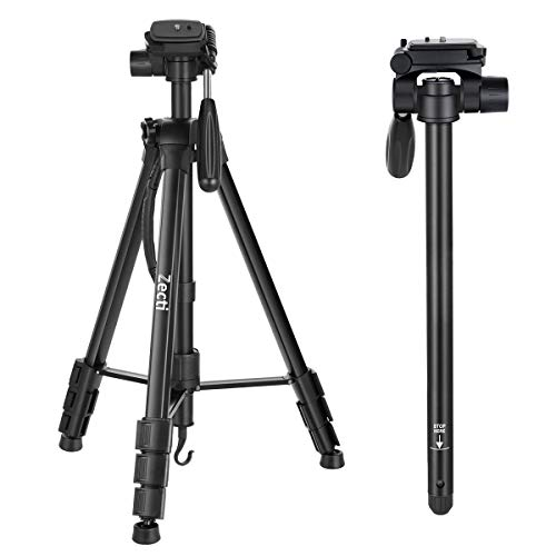 Zecti 70-Inch Compact Light Aluminium Tripod with Quick Release Plate, Ball Head and Carrying Bag for Canon Nikon Sony Olympus DV Video DSLR Camera