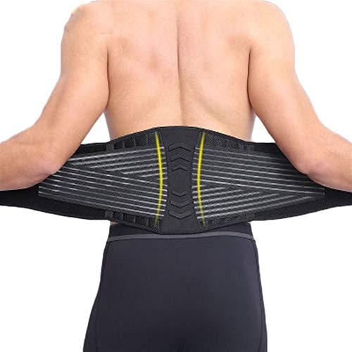 RZDJ 8 Federn Stützende Taille Bandage Übung Fitness Gewicht Squat Ausbildung Nierengurt Rückenstütze Kompression for Männer (Color : Black, Size : M)
