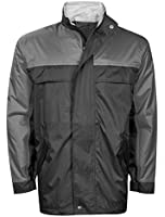 Mens Ladies Waterproof Jacket Coat Windproof Outdoors Camping Festival Zip Up