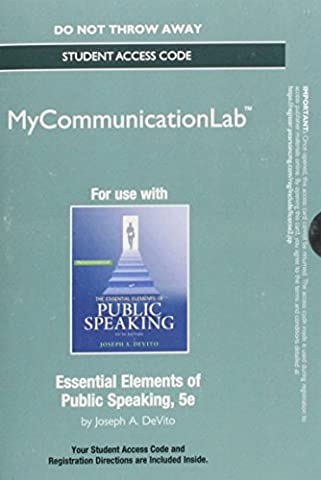 NEW MyCommunicationLab without Pearson eText -- Standalone Access Card -- for Essential Elements of Public Speaking (Standalone)