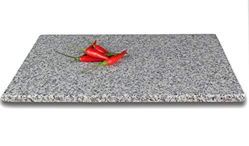 DiConcetto Schneidebrett aus Granit | Steinplatte | Granitplatte (30 x 20 x 1, Granit Kristall)