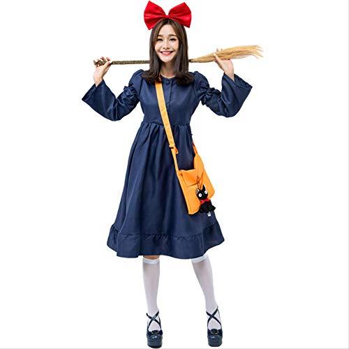 HG-amaon Japanische Wonder Woman Cos Kleidung, Erwachsene japanische Little Demon Girl Pomskirt, Baumwolle bequem atmungsaktiv, Langarm abnehmbare L Kleid (Demon Girl Kostüm)