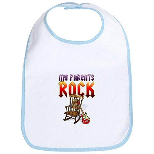 CafePress-My Eltern Rock --Cute Stoff Baby Lätzchen, Toddler Lätzchen, Blau