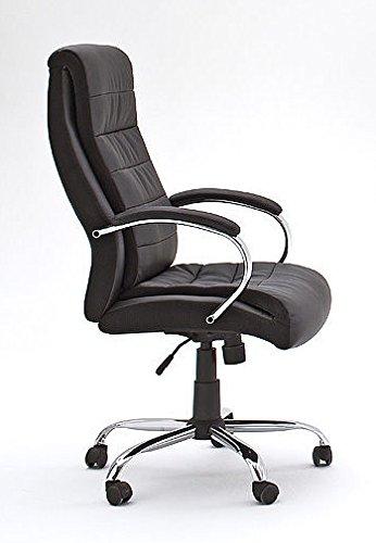 Schreibtischstuhl, Bürostuhl, Gaming Stuhl, Chefsessel mit Armlehnen, Gaming Chair, Kunstleder schwarz