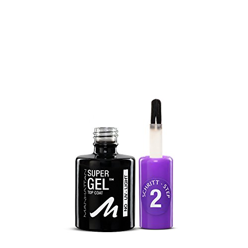 Manhattan Super Gel Top Coat, Farbe 001, 1er Pack (1 x 12 ml)