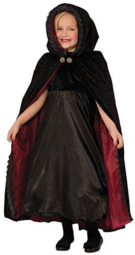 FORUM Novelties x76421Gothic Vampirin Cape Kind Erwachsene Kunden, schwarz/rot, ()