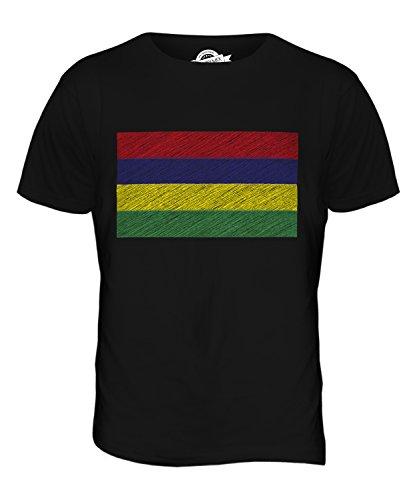 CandyMix Mauritius Kritzelte Flagge Herren T Shirt Schwarz