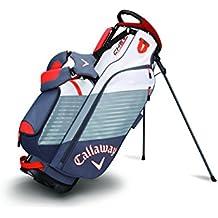 Calaway Chev Bolsa Trípode de Golf, Unisex Adulto, Gris/Blanco/Naranja, Talla Única