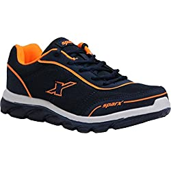 Sparx Men's Navy Blue and Orange Running Shoes - 9 UK/India (43 EU)(SX-277)