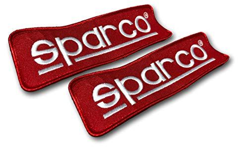 JDM Aufnäher Racing Patches (2er-Pack) Vintage Car Race und Dirt Track Wear für Jumpsuits, Rucksäcke, Riemen, Gear - strapazierfähiger bestickter Stoff, verblasst nicht. SP-Red