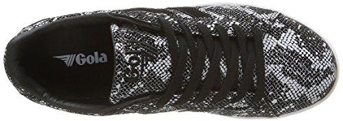 Gola - Equipe Reptile, Scarpe da ginnastica Donna Nero (Nero (Black/White))