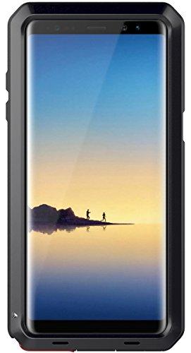 seacosmo Galaxy Note 8 Hülle, [Tough Armor] Aluminium Doppelte Schutz Stoßfest Schutzhülle für Samsung Galaxy Note 8, Schwarz