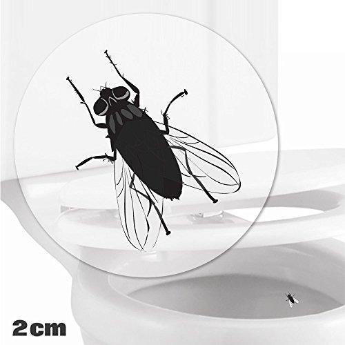 Preisvergleich Produktbild Toilettenhilfe für Kinder Säuglinge Jungs Lustige Badezimmer Bad Töpfchen Pinkelhilfe 10 x Fliege Zielhilfe Aufkleber (2 cm)