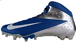 Nike Vapor Talon Elite 3/4 TD Mens Molded Football Cleats (16, Sport Royal/White-Chrome/Black)