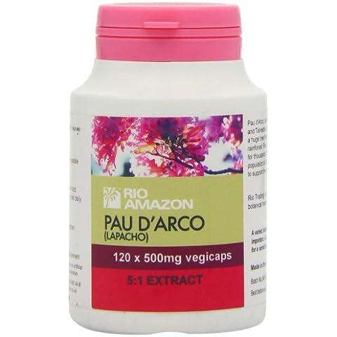 Rio Amazon Pau d'Arco (Lapacho) 500mg 5:1 extract vegicaps - 120 - Bellezza Arco